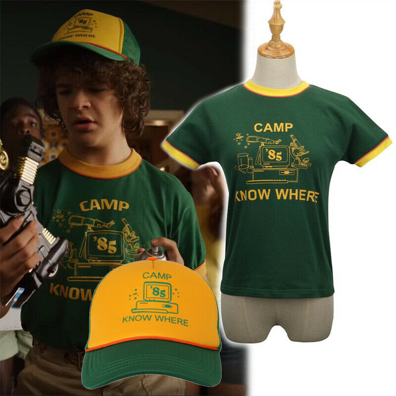 2019 Stranger Things Season 3 Mike Wheeler Cosplay Short Sleeve T-shirt Hat Kids