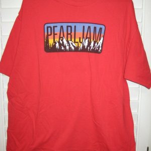 Vintage Pearl Jam October 2014 Small Rock Concert Tour T-Shirt- Red- EUC