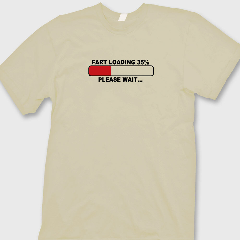 Funny Crude Fart Now Loading Mens T-Shirt