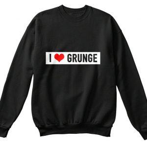 I Love Grunge Music - Hanes Unisex Crewneck Sweatshirt