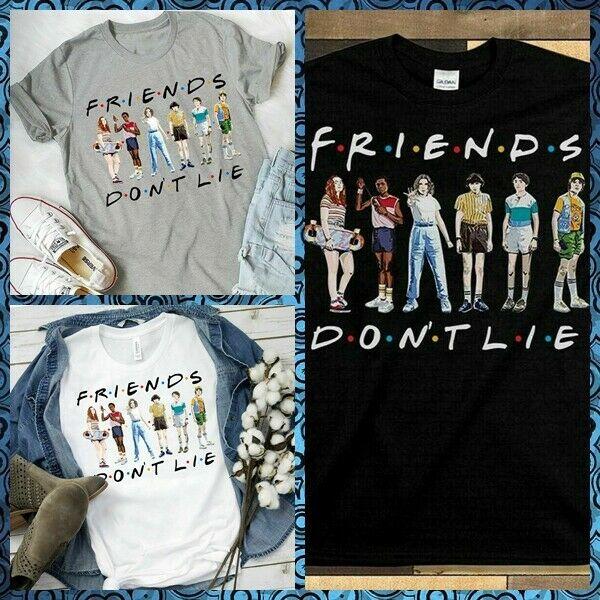 Stranger Things T-shirt Friends Don't Lie Unisex Inspired Tee shirt Netflix TV