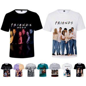 FRIENDS 3D Printed T-Shirt TV Show Women Men Fashion New Tee Short Sleeve Tops