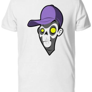 Grunge Spooky Zombie Cartoon Men's Tee -Image by Shutterstock