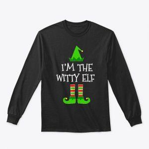 Im The Witty Elf Christmas T Gift Gildan Long Sleeve Tee T-Shirt