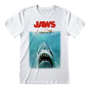 Jaws Movie Poster Great White Shark Official Tee T-Shirt Mens