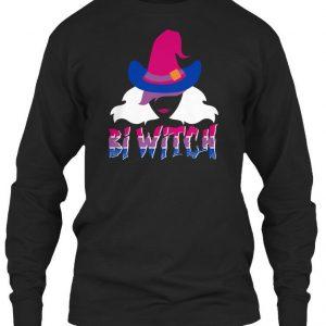 Comfy Bi Witch Bisexual Pun Halloween Gildan Long Gildan Long Sleeve Tee T-Shirt