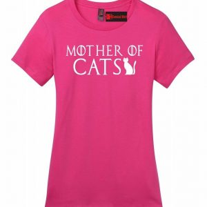 Mother Of Cats Ladies T Shirt TV Show Parody Kitten Animal Lover Tee Z4
