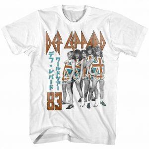 OFFICIAL Def Leppard Japan Tour 1983 Men's T-shirt Rock Band
