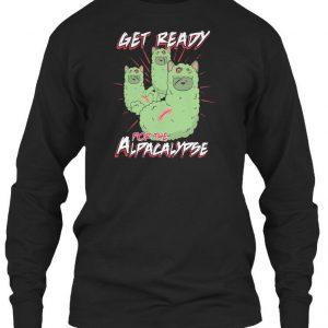 Supersoft Zombie Alpaca Lips Halloween Pun Llama Gildan Long Sleeve Tee T-Shirt