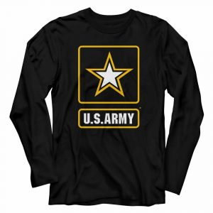 Army Color Logo Black Adult Long Sleeve T-Shirt
