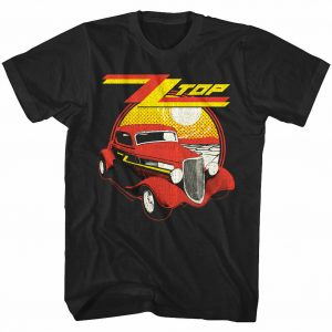 OFFICIAL ZZ Top Eliminator Album Cover Men's T Shirt Car Rock Band