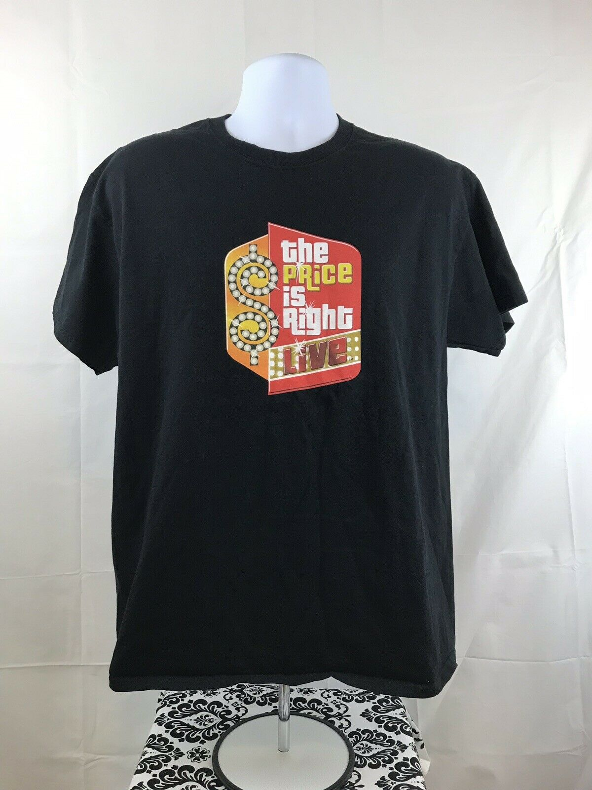 The Price Is Right Live T.V Game Show Black Short Sleeve Mens T Shirt Large