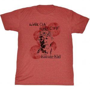 Karate Kid Wax On Miyagi Adult T-Shirt Tee