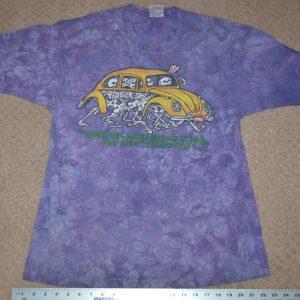 "Vintage Grateful Dead 1994 "" Together, More Or Less In Line"" Tie Dye Tee Large"