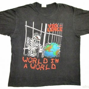Vio-Lence Vintage T Shirt 1990 Tour Concert XL World In A World Thrash Metal