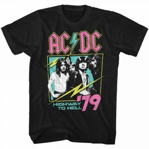 AC/DC Neon Highway Black Adult T-Shirt