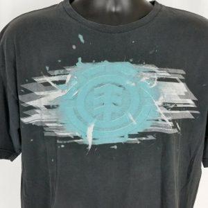Element Skateboard Mens XL Black Tee Shirt Earth Wind Water Fire Short Sleeve