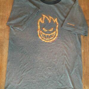 Spitfire Wheels Shirt Ride The Fire Flamehead Skate Skateboards VTG 90s Tee
