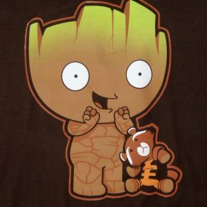 Grootie Mashup T-Shirt Groot & Stewie Family Guy Guardians Galaxy MENS SMALL SM