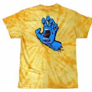 Santa Cruz skateboards Screaming Hand Tie Dye T-Shirt Medium