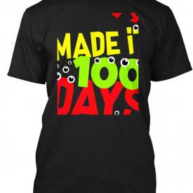100 Days Of School Monster Pun Eye Hanes Tagless Tee T-Shirt