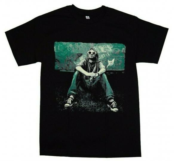Kurt Cobain Nirvana New Men White T-Shirt Grudge Rock 90's Rock