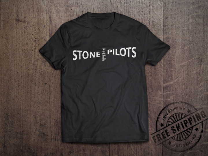 New Stone Temple Pilots STP Logo Rock Band Men's Black T-Shirt Size S to 6XL 2