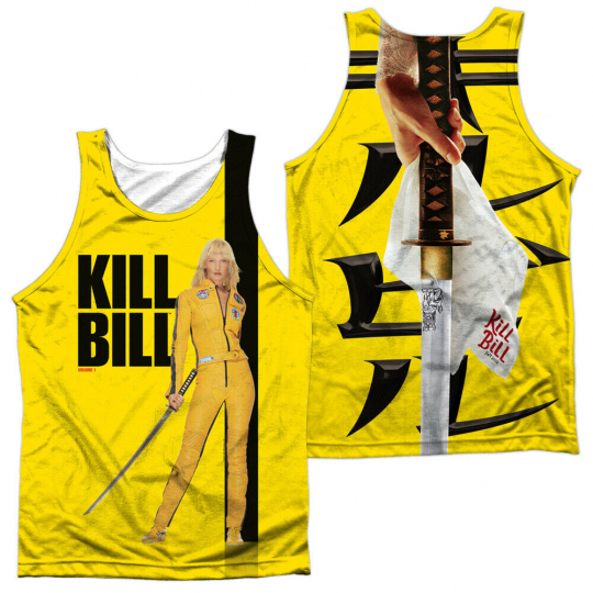 Kill Bill Movie POSTER 2-Sided Sublimated All Over Print Poly Tank Top