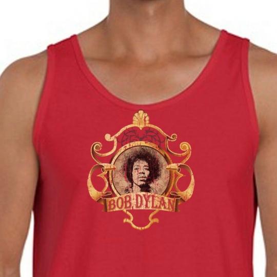 Jimi Hendrix Bob Dylan T-shirt Stoner College Humor Rock Music Men's Tank Top
