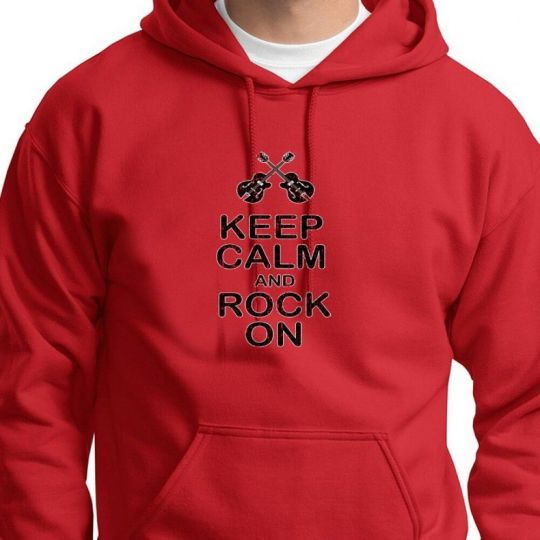 Keep Calm And Rock On Heavy Metal T-shirt Band DJ Party Music Hoodie Sweatshirt