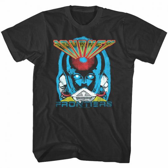OFFICIAL Journey Frontiers Album Cover Men's T-shirt Rock Band Concert