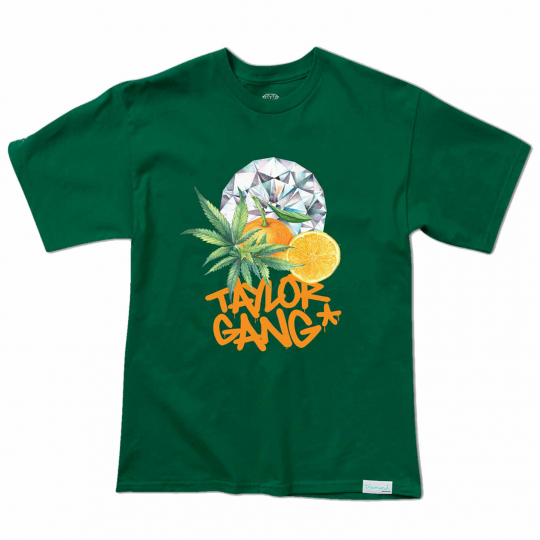 Diamond Supply Co. x Taylor Gang Men's Short Sleeve T Shirt Green Clothing Ap...