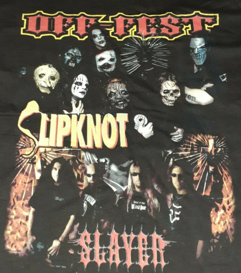 2004 Slayer Slipknot Hatebreed Tour Shirt Vintage pantera metallica Manson 2000s