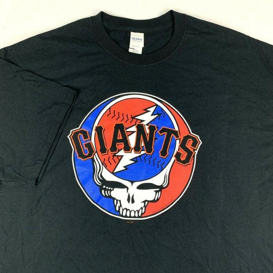 2011 San Francisco Giants x The Grateful Dead T-Shirt Mens 2XL XXL Jerry Garcia