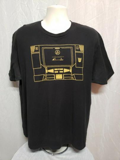 2012 Hasbro Transformers Linkin Park Soundwave Adult Black XL TShirt