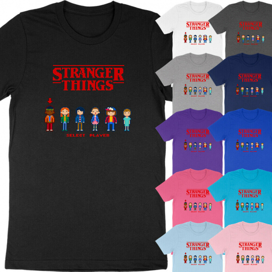 8-Bit Stranger Things 8Bit Pixel Video Game Eleven Mike Pop Culture T-Shirt Tee