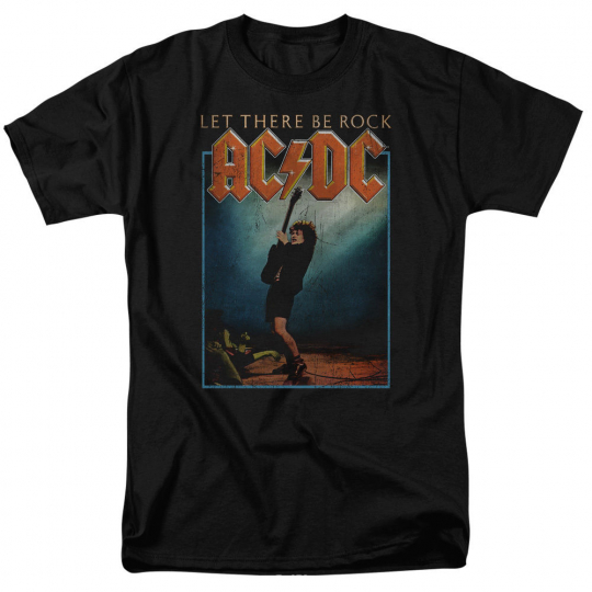 ACDC AC-DC Rock Band LET THERE BE ROCK Album Cover Distressed T-Shirt All Sizes