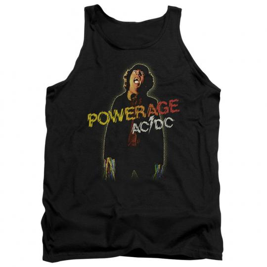ACDC AC-DC Rock Band POWERAGE Album Art Vintage Style Tank Top All Sizes