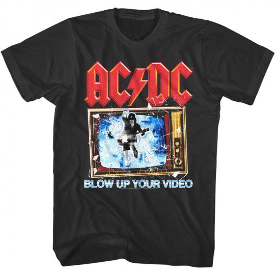 ACDC Blow Up Your Video Men's T-Shirt Rock Band Concert Merch