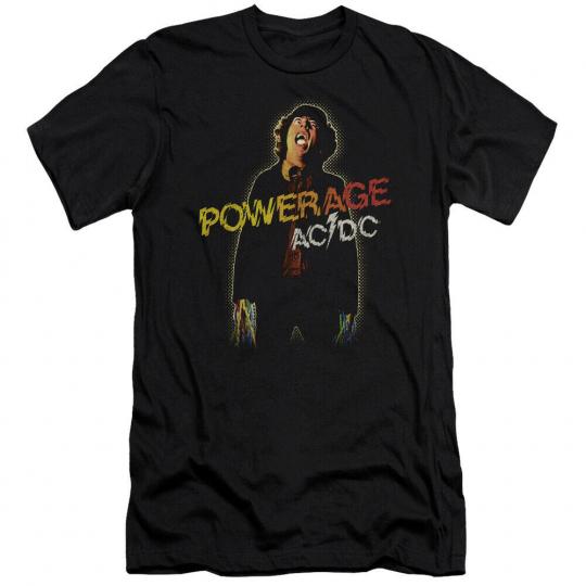 AC/DC Powerage Adult 30/1 T-Shirt Black