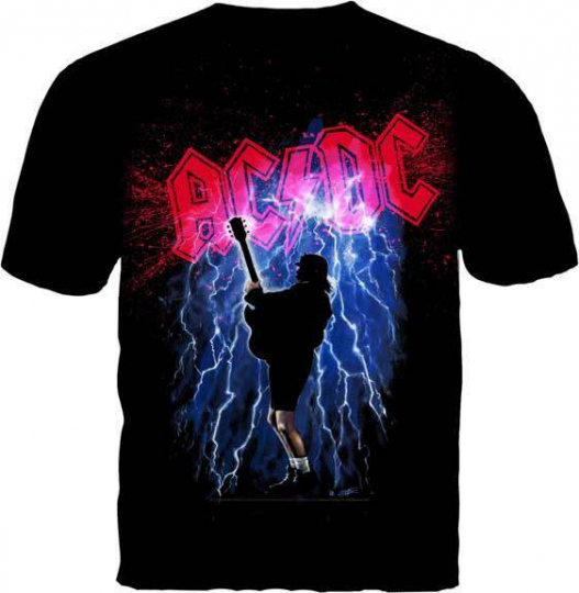 AC/DC THUNDERSTRUCK ARTWORK MUSIC BAND ROCK METAL ANGUS YOUNG MENS T TEE SHIRT
