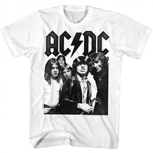 AC/DC White Adult T-Shirt