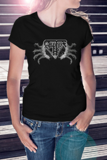 ASPHYX Logo Women Lady Black T-shirt Death Metal Tee Shirt