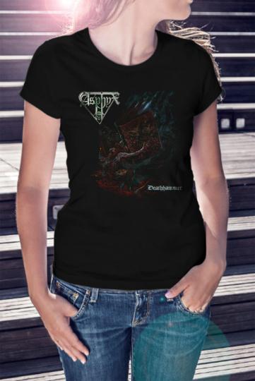 ASPHYX Women Black T-shirt Death Metal Tee Shirt Deathhammer