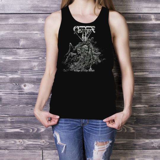 ASPHYX Women Lady Black Tank Top Death Metal Singlet Reign Of The Brute