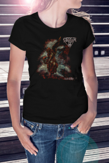 ASPHYX Women Lady T-shirt Doom Metal Tee Death Angel Gorguts