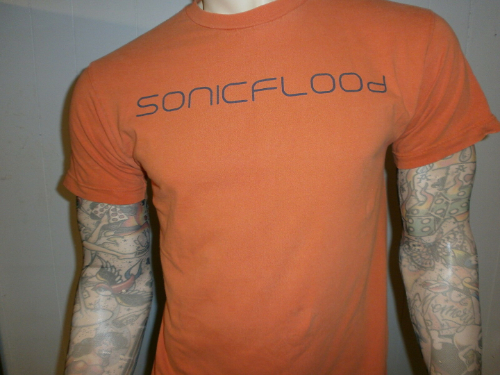AUTOGRAPHED SONICFLOOd CONCERT T SHIRT Christian Rock Cry Holy Tour SIGNED Med