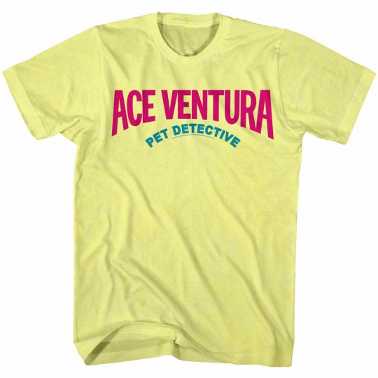 Ace Ventura Logo Yellow Adult T-Shirt