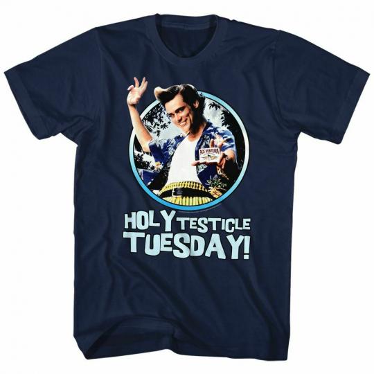 Ace Ventura Tuesday Navy Adult T-Shirt