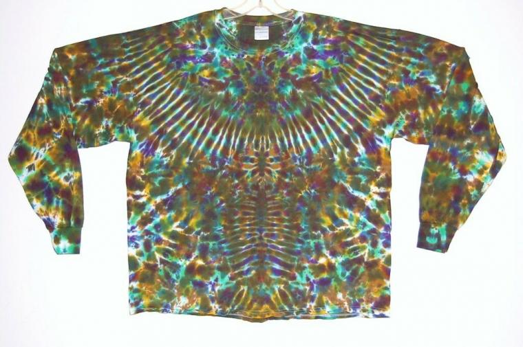 Adult L/S TIE DYE Phoenix Blotter T Shirt 2X 3X 4X plus size grateful dead art